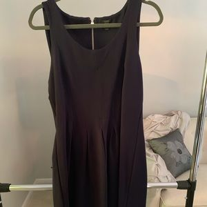 Navy J Crew fit and flare dress